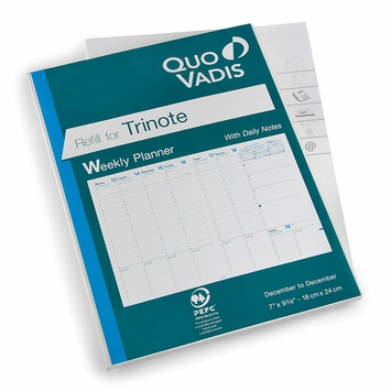 Quo Vadis 2021 Trinote Weekly Planner Refill #48 (Ref. #4801) (7 x 9.375)