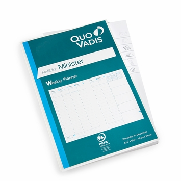 Quo Vadis 2021 Minister Weekly Planner Refill #15 (Ref. #1501) (6.25 x 9.375)