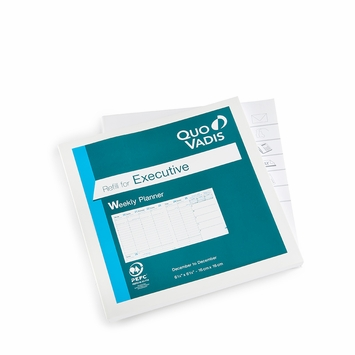 Quo Vadis 2021 Executive Square Weekly Planner Refill #14 (Ref #1401) (6.25 x 6.25)