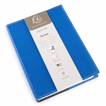 Exacompta Club Leatherette Forum Journal (5 x 7) in Blue