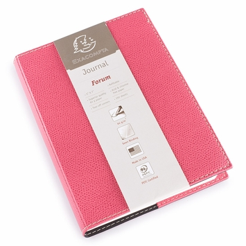 Exacompta Club Leatherette Forum Journal (5 x 7) in Rose