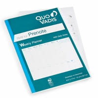 Quo Vadis 2021 Prenote Large Weekly + Notes Planner Refill #24 (Ref #2401) (8.25 x 11.625)