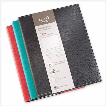 Quo Vadis 2021 Club Trinote Planner (7 x 9.375) in Black