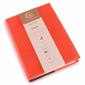 Exacompta Club Leatherette Forum Journal (5 x 7) in Red