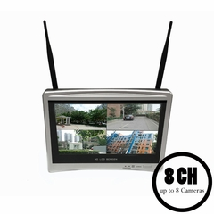 """8 CH All-in-One Standalone Surveillance<br>NVR System with 12"""" Built-in Monitor<br>(Standard)"""