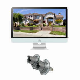 """2 Camera / 16"""" All-in-One Monitor NVR Kit Complete Survillance System"""