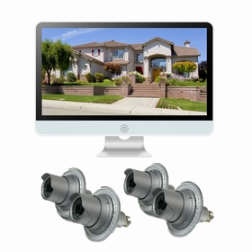 """4 Camera / 16"""" All-in-One Monitor NVR Kit Complete Survillance System"""