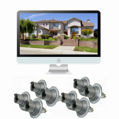 """8 Camera / 16"""" All-in-One Monitor NVR Kit Complete Survillance System"""
