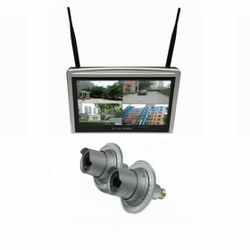 """2 Camera / 12"""" All-in-One Monitor NVR Kit Complete Survillance System"""