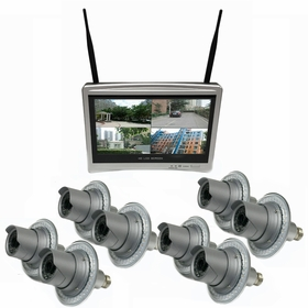 """8 Camera / 12"""" All-in-One Monitor NVR Kit Complete Survillance System"""