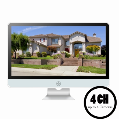 """4 CH All-in-One Standalone Surveillance<br>NVR System with 16"""" Built-in Monitor<br>(Standard)"""