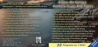 Various Catholic Issues 22 in 1 DVD (Second Edition)