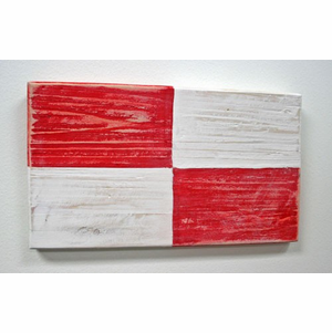 Nautical Alphabet Wooden Signal Flag - U