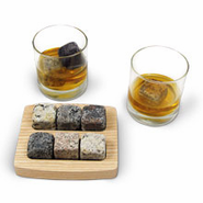 Square On the Rocks with Tray and Tumblers