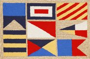 Front Porch Signal Flags Natural Rug