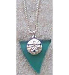 Beach Glass Sand Dollar Charm Pendant