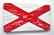 Nautical Alphabet Wooden Signal Flag - V