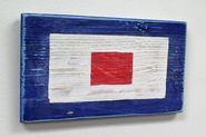 Nautical Alphabet Wooden Signal Flag - W