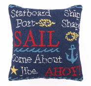 Sail Hooked Pillow