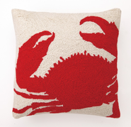 Red Crab Hooked Pillow