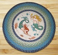 Mermaids Round Patch Rug