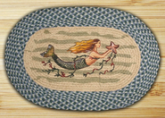 Earth Rugs® Mermaid Oval Braided Rug