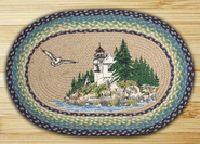 Earth Rugs® Bass Harbor Oval Braided Rug