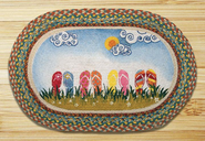 Flip Flops Oval Patch Rug
