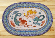 The Mermaids Oval Patch Rug