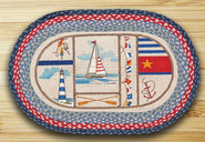 Nautical Breeze Oval Patch Rug
