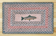 Earth Rugs® Fish Rectangle Braided Rug