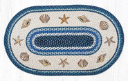 Shells Oval Patch Rug