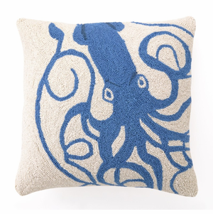 Blue Squid Hooked Pillow