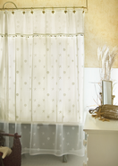 Sand Shell Shower Curtain Set