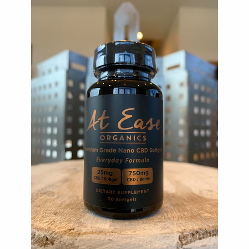 750mg Everyday At Ease CBD Softgels 50% Off While Supplies Last!