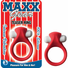 Maxx Gear Teaser Cock Ring - Red