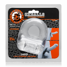 OxBalls 360 2-way Cock Ring - Clear
