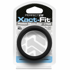 PF Xact-Fit 2 Pack Premium Cock Ring - Size #23