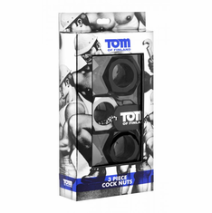 Tom of Finland Cock Nuts - Black/Gray 3 pack