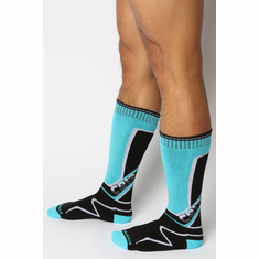 Kennel Club Mid-Calf Socks - Turquoise O/S