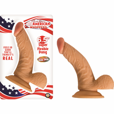 """All American Whopper - Curved/Beige with Balls 6.5"""""""