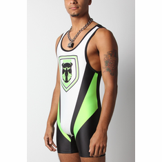 Kennel Club 2.0 Singlet - Green/Black L
