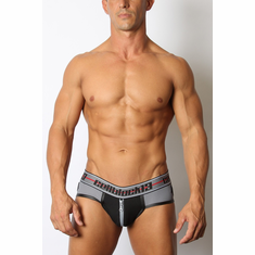 Moto X Zipper Jockstrap - Grey S
