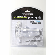 Double Tunnel Plug - Clear L