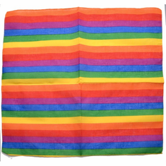 Rainbow Narrow Striped Bandana
