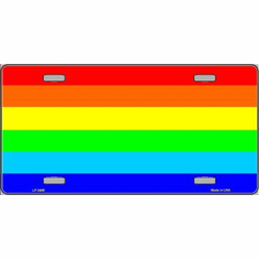 License Plate - Rainbow Flag