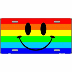 License Plate - Rainbow Smiley