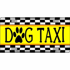 License Plate - Dog Taxi