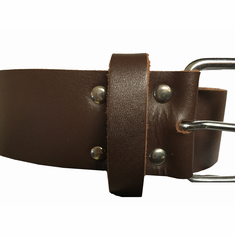 Wide Belt  - Brown 38