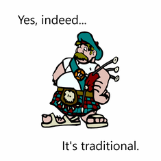 Yes Indeed...It's Traditional
